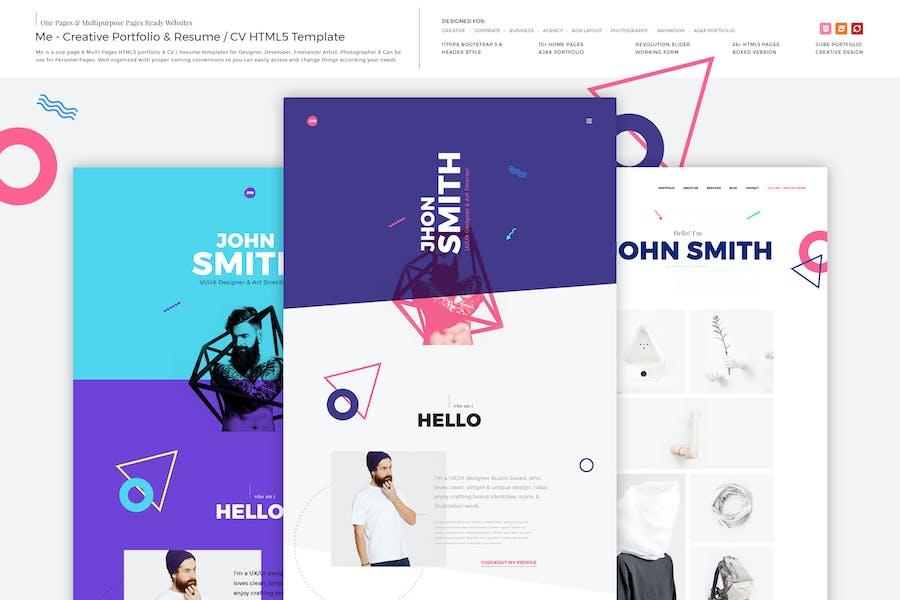 Me - Creative Portfolio & Resume/CV HTML Template
