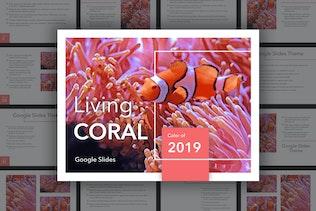 Living Coral Google Slides