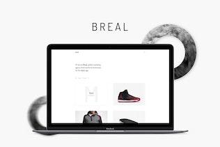 Breal - Minimal Website PSD Template