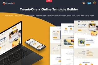 TwentyOne - Creative Portfolio Email + Builder