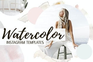 Watercolor Instagram Templates
