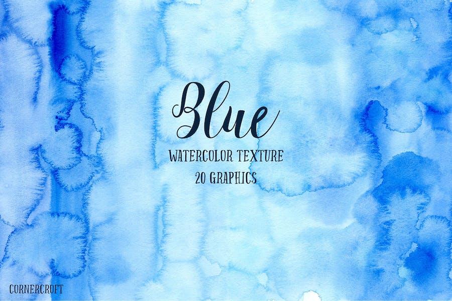 Watercolor Texture Blue
