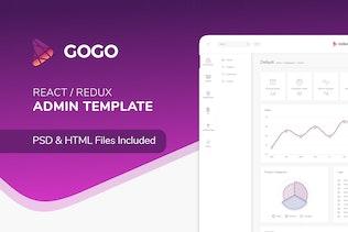 Gogo React - React Admin Template