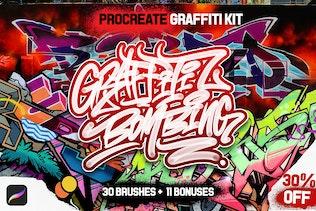 PROCREATE GRAFFITI BOMBING for Procreate