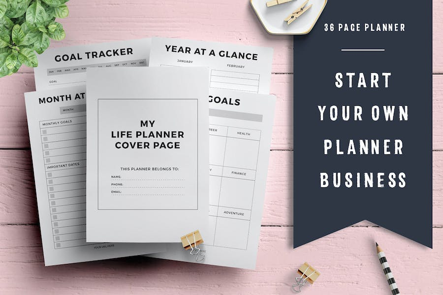 Life Planner Template (36 pages)