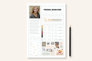 One Page Personal Brand Style Guide