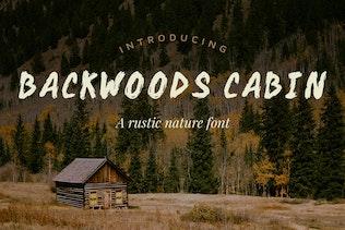 Backwoods Cabin Font