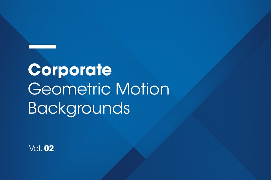 Corporate | Geometric Motion Backgrounds | Vol. 02
