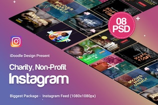 Charity / Nonprofit  Instagram Ads - 08 PSD