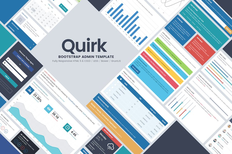Quirk Bootstrap Admin Template