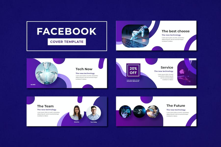 Facebook Cover Template Technology