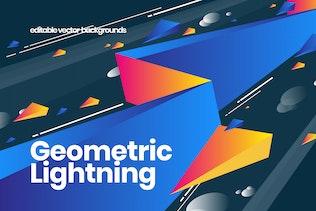 Geometric Lightning Backgrounds