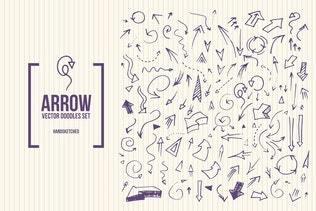 Doodle Arrows Vector Set