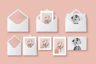 Mockup - Greeting Cards & Envelope