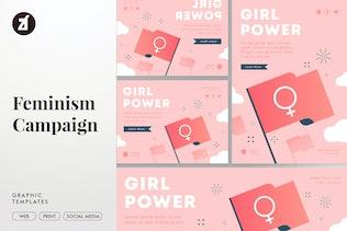 Feminism Campaign Graphic Templates