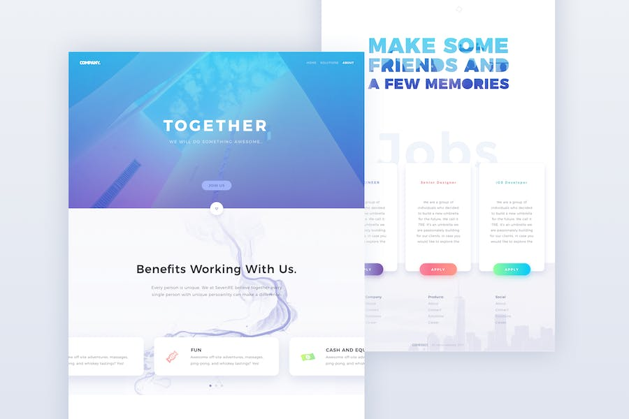 Business One Page Web Template