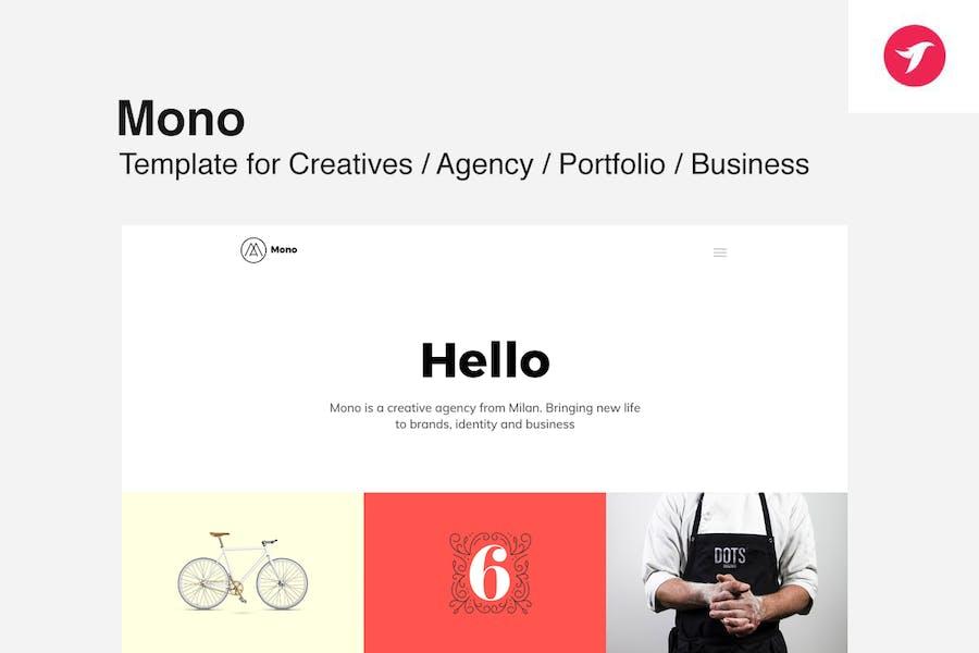 MONO - Template for Creatives / Agency / Portfolio