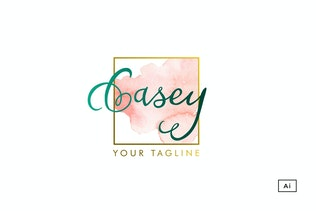Casey Watercolor Logo Template