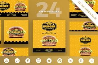 Burger House Social Media Pack Template