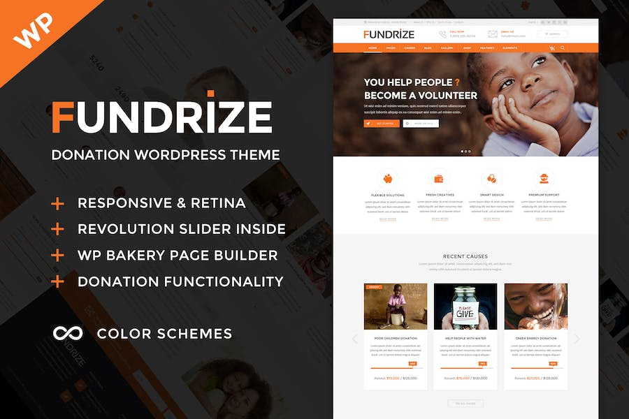 Fundrize - Donation & Charity WordPress Theme