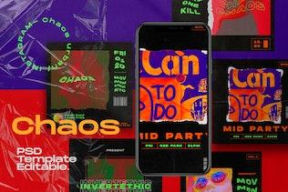 CHAOS - Instagram Social Media Kit