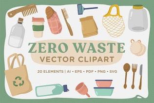 Zero Waste Vector CLipart Pack