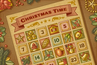 Vintage Christmas Advent Calendar