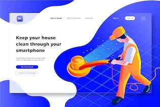 Cleaning & Sanitation - Banner & Landing Page