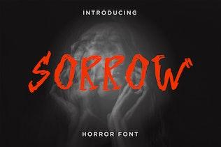 Sorrow - Horror Font