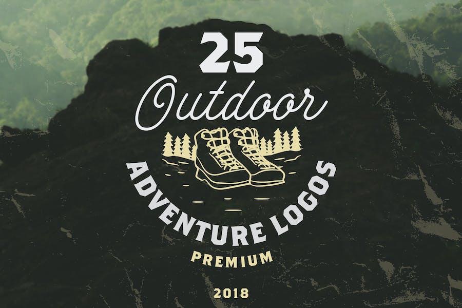 25 OUTDOOR ADVENTURE LOGOS / BADGES
