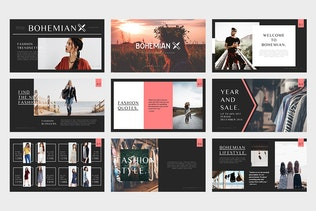 Bohemian : Fashion Catalogue Powerpoint Template