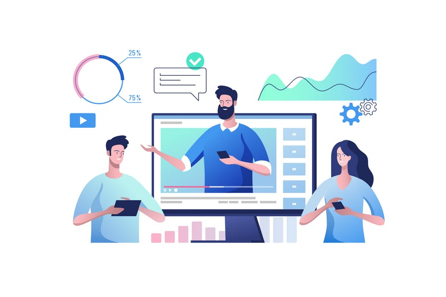 Online video communication