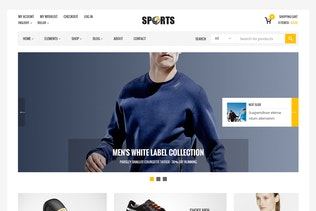Sport Shop - Sporting Club RTL WooCommerce Theme