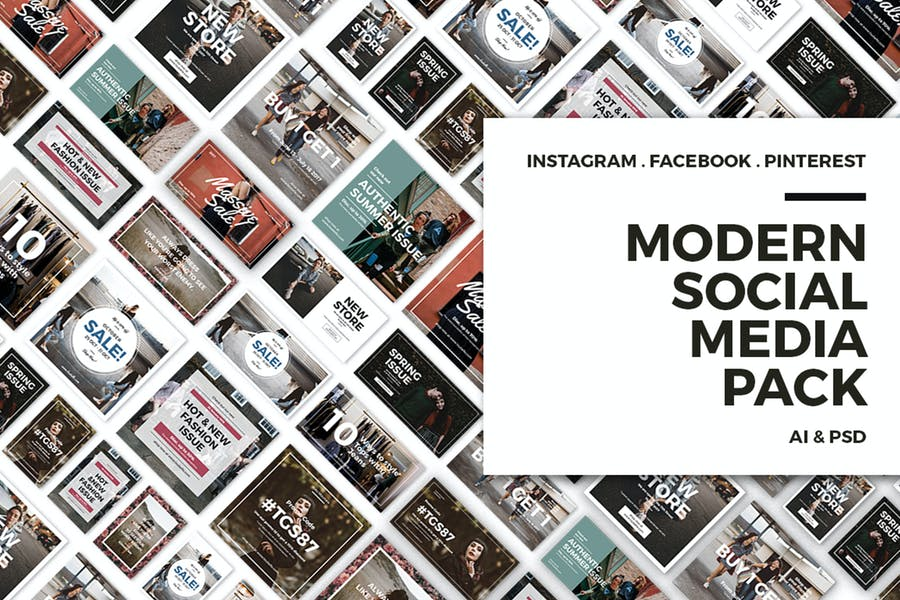 Modern Social Media Post Bundle