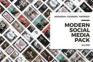 Modern Social Media Post Bundle