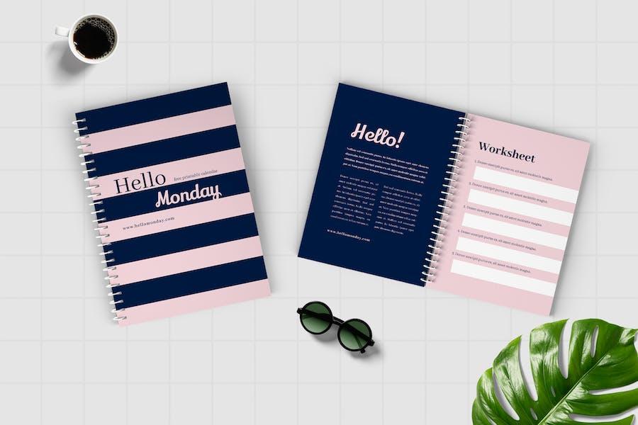Worksheet Daily Planner Book - Three