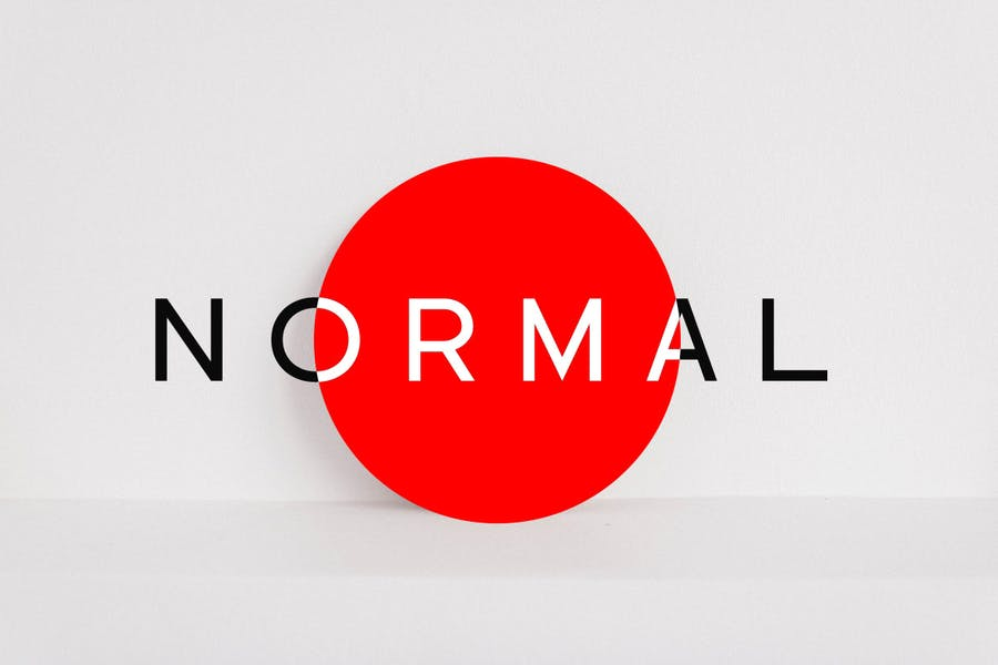 NORMAL - Minimal Sans Serif Typeface + WebFonts