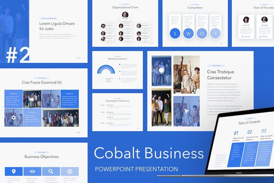 Cobalt Business PowerPoint Template