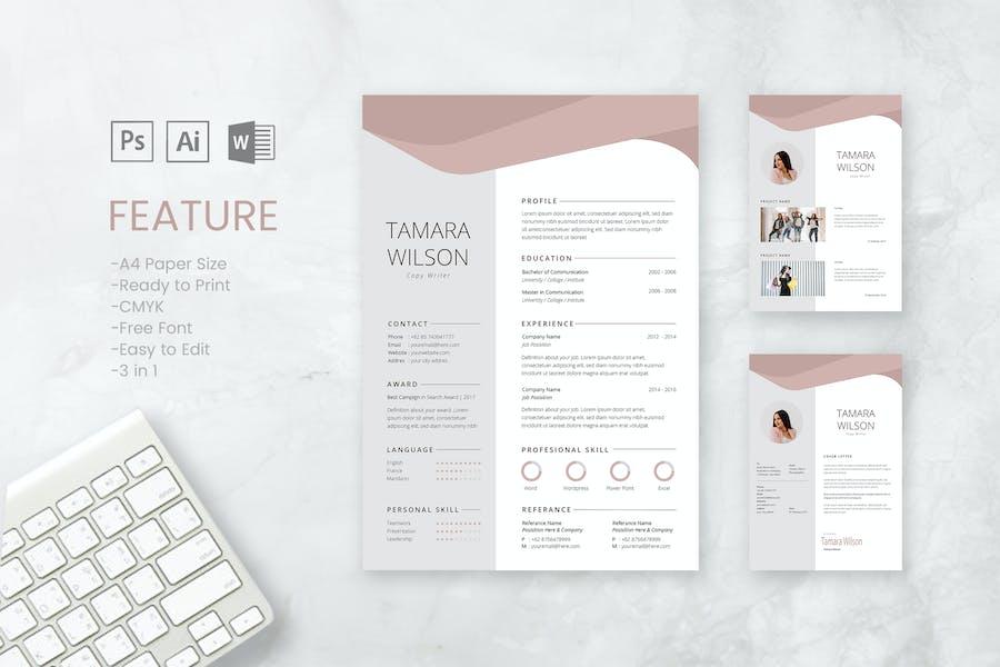 Professional CV And Resume Template Tamara