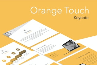 Orange Touch Keynote Template