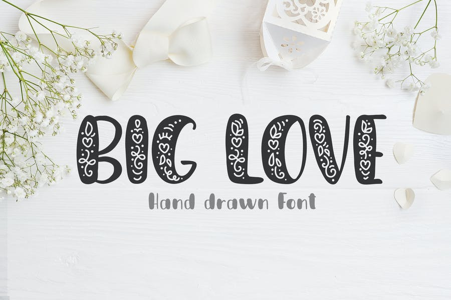 Cover for Big Love Hand Drawn Font