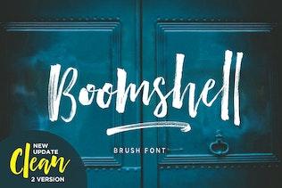 Boomshell Brush Font