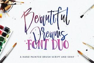 Beautiful Dreams - Font Duo Brush Font
