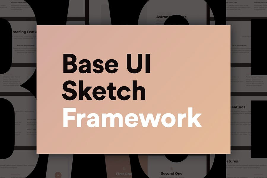 Base UI – Huge 180+ Screens Sketch Framework