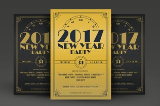 Golden New Year Flyer