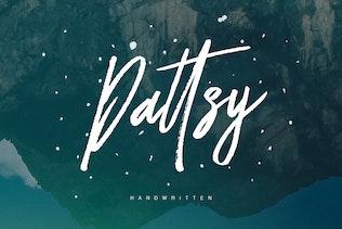 Dattsy Signature Brush Font