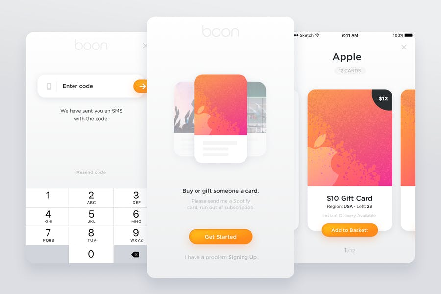 Boon - Gift Card Mobile App Kit
