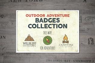 Outdoor Vintage Adventure Badges / Logo Set