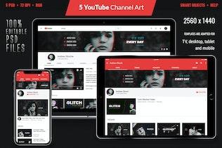 Glitch YouTube Channel Art