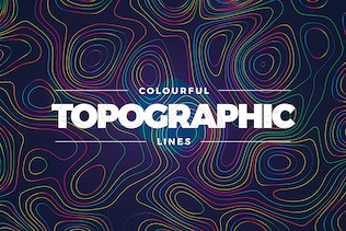Topographic Styled Colorful Lines Background
